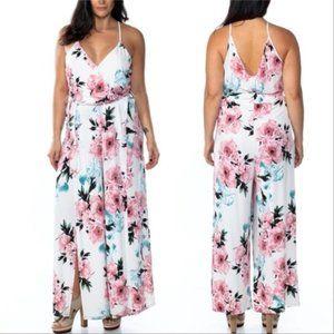 PLUS Floral Jumpsuit